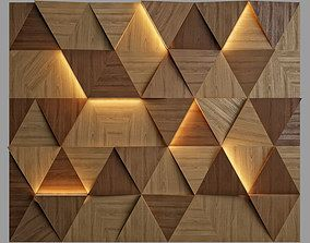 3D model wooden wall panels woodwalls Tulip | CGTrader