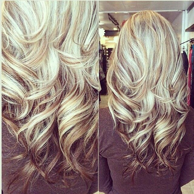 Gorgeous Long Blonde Hair Highlights Lowlights Highlights