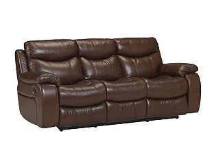 Haverty S Stetson Dual Reclining Sofa 86 Inch Cognac