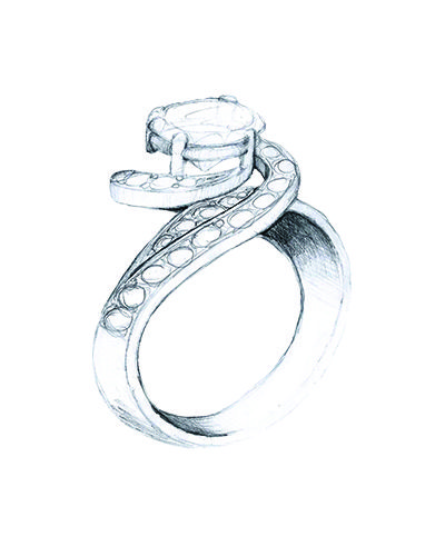 Customise you engagement rings today. From a creative