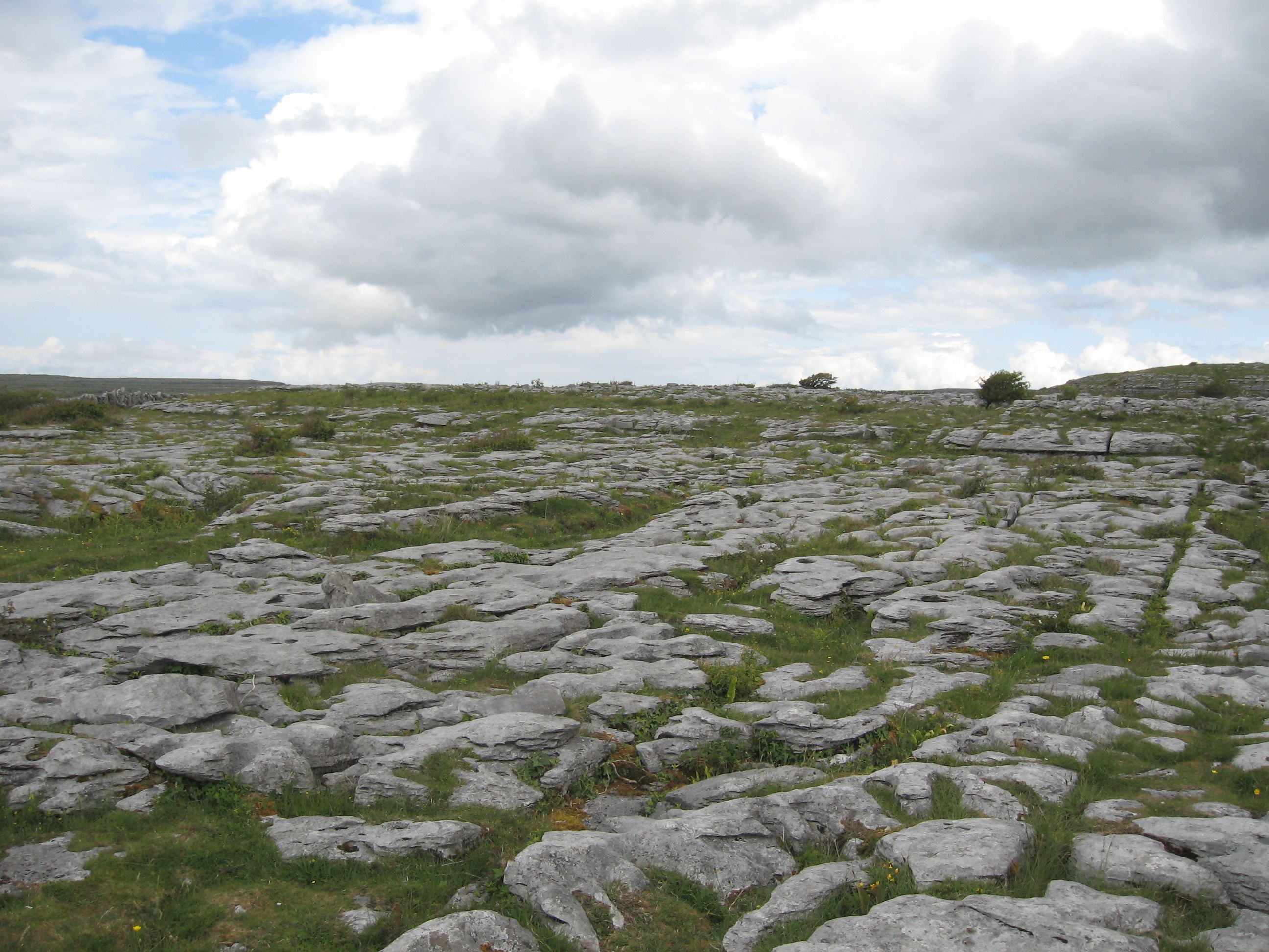 The burren is a vast limestone plateau in the western part of ireland it encompasses more than 190 square miles of land