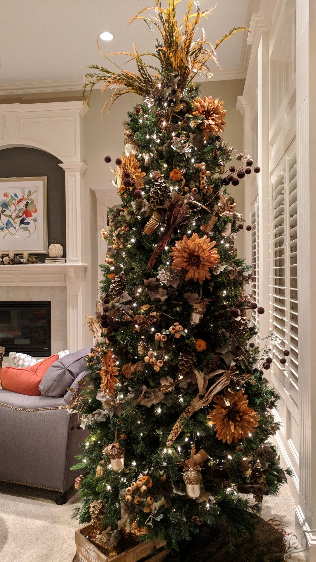 My Fall 'Christmas Around the Year' Tree! Decorated with