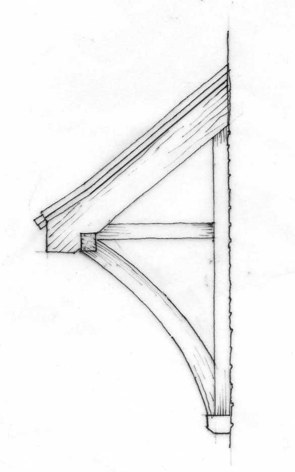 Detail of cantilever bracket which can be used with lean-to or gabled canopies.  sc 1 st  Pinterest & Detail of cantilever bracket which can be used with lean-to or ...