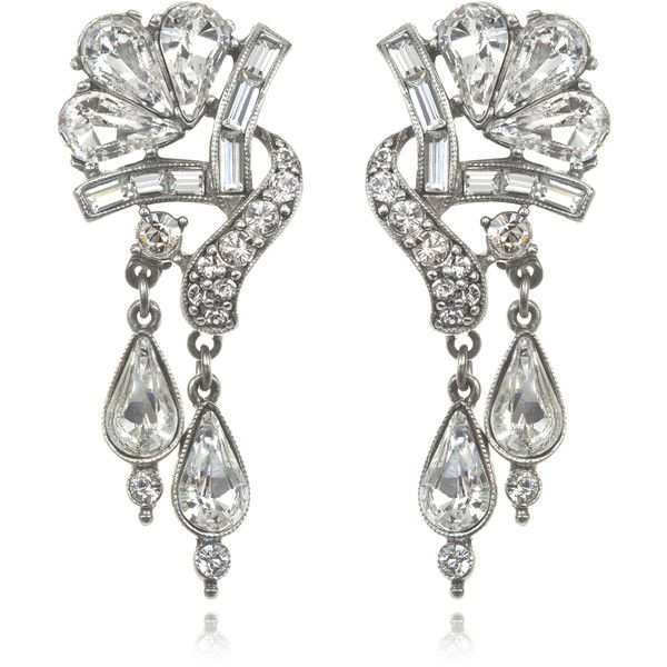 Ben-Amun Crystal Double Drop Earrings