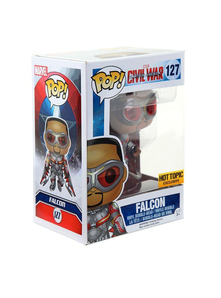 Civil War Falcon Funko Pop Hot Topic Exclusive Marvel Captain America Marvel Captain America Civil War Bobble Head