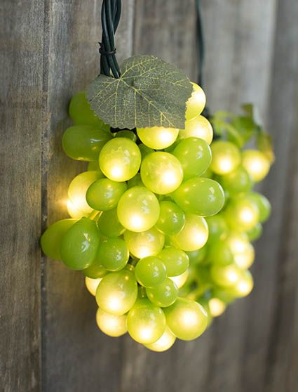 Green grapes string lights decorate pinterest green grape green 6 feet indoor outdoor lights 5 clustersgrape vine string lights mozeypictures Choice Image