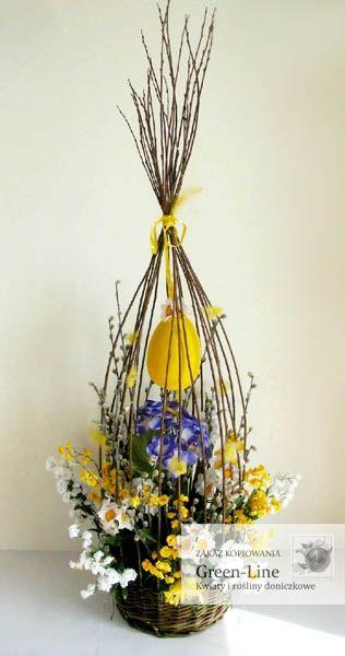 Wielkanoc Kosz Easter Flower Arrangements Spring Easter Decor Easter Flowers