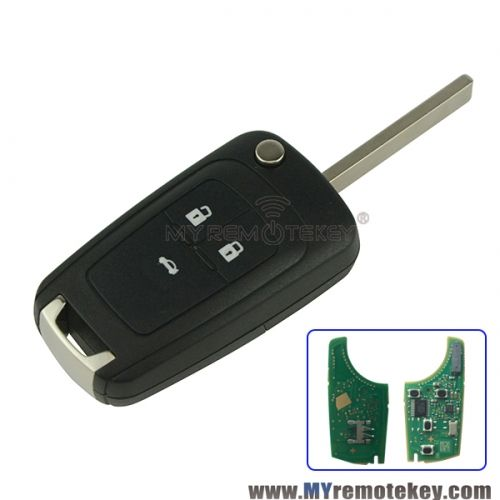 Flip Remote Key 3 Button 433mhz For Chevrolet Cruze With Id46 Chip