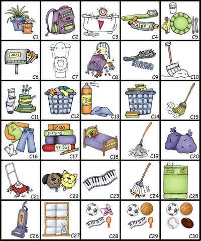 circular chore chart clip art yahoo image search results baby rh pinterest com chore chart clipart free Household Chores Clip Art
