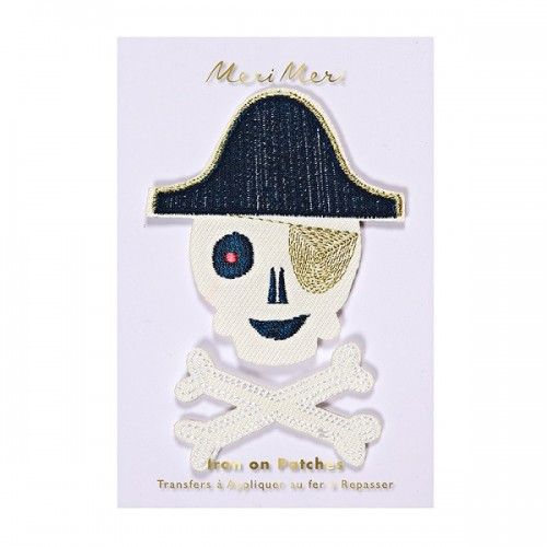 Pirate Patches - Meri Meri - Iron On Patch - The Original Party Bag Company