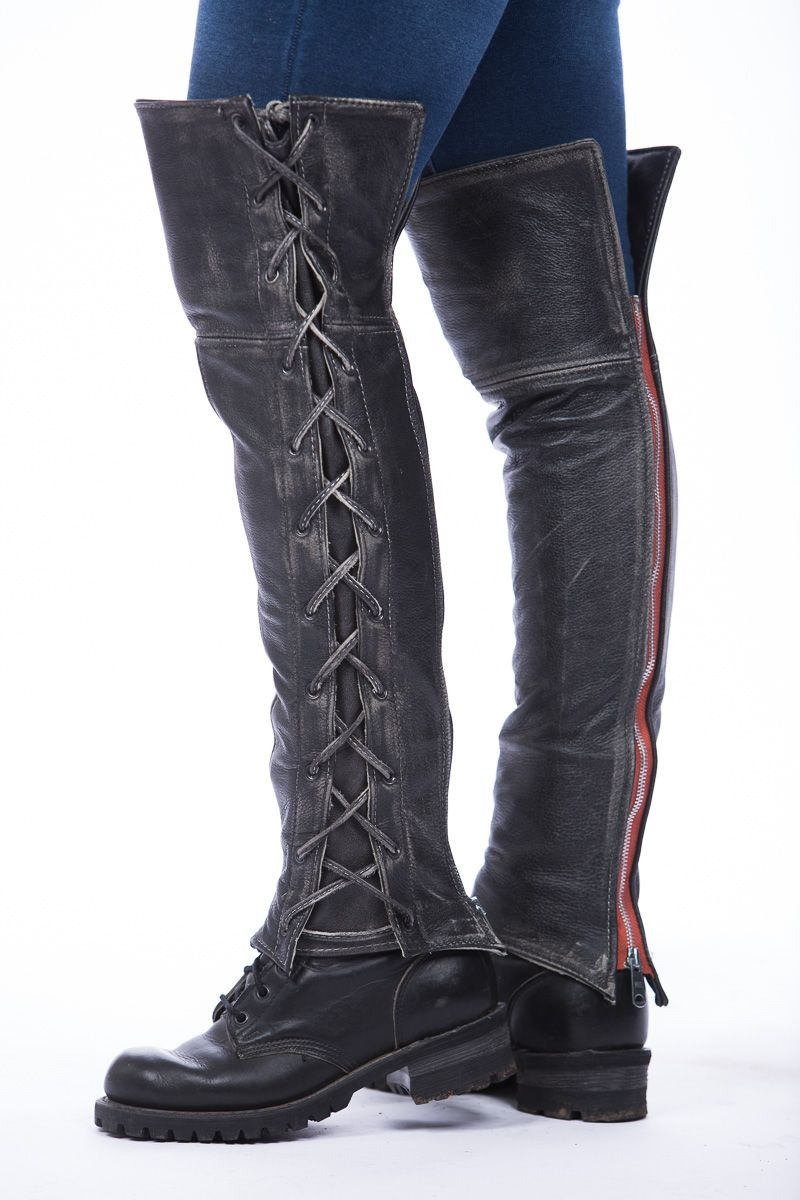 7930738c573 Leather & Lace Thigh High Half Chaps | Eyes to see | Motorcycle ...