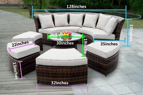 Amazon Com Genuine Ohana Outdoor Patio Wicker Furniture 7pc All