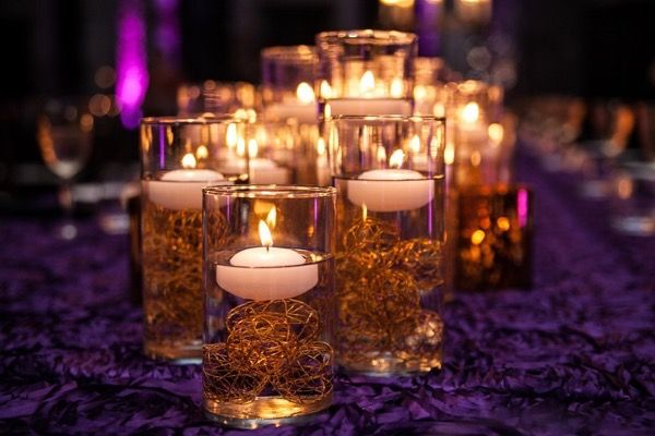 Sparkly Purple And Gold Wedding Wedding Reception Pinterest