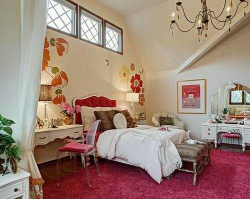 stylish funky and glamorous teenage girl bedroom design ideas