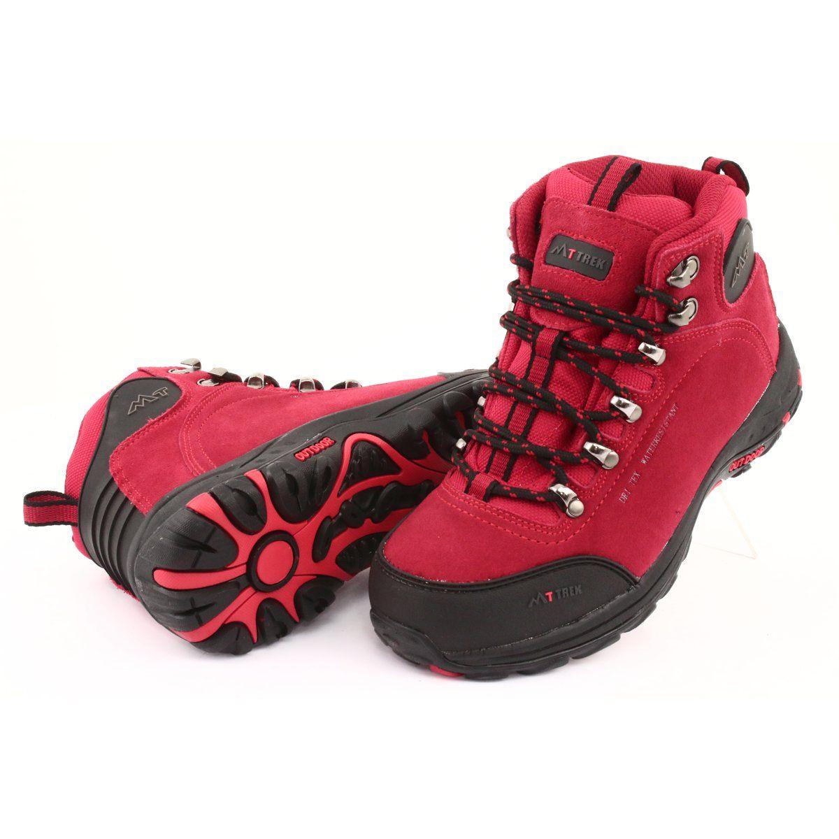 Trapery Z Membrana Mttrek 034 Red Czarne Czerwone Black And Red Trekking Shoes Hiking Boots