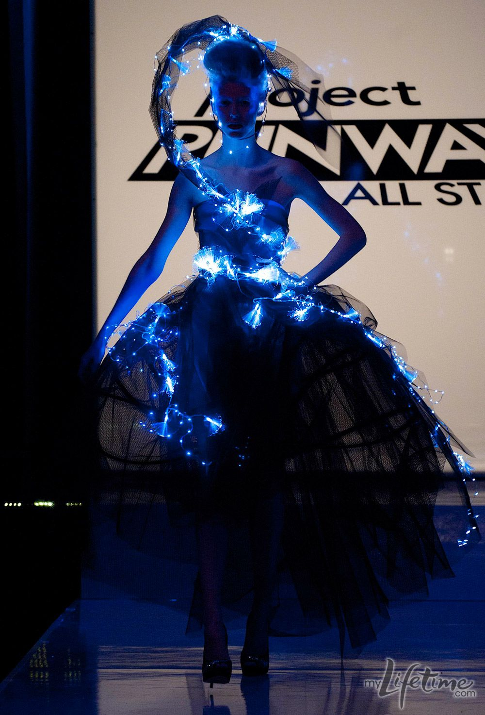 Image result for austin scarlett project runway glow in the dark dress