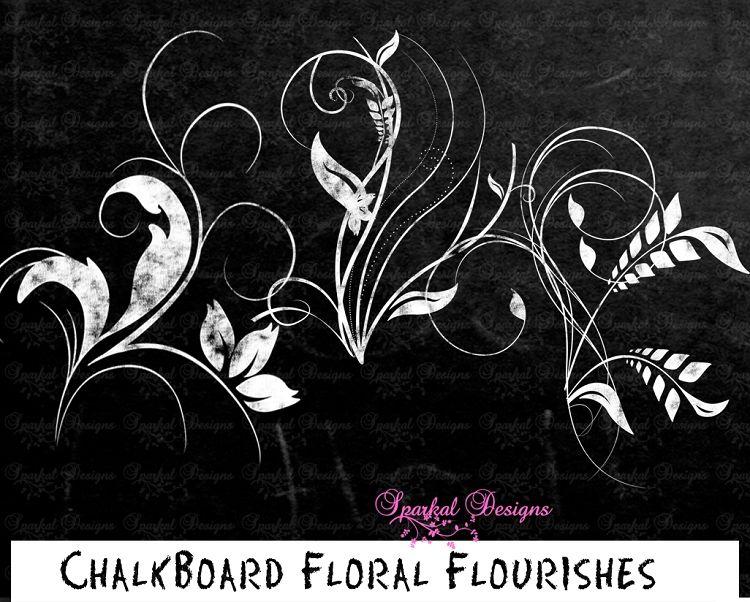 Free Chalkboard Flourishes Clip Art