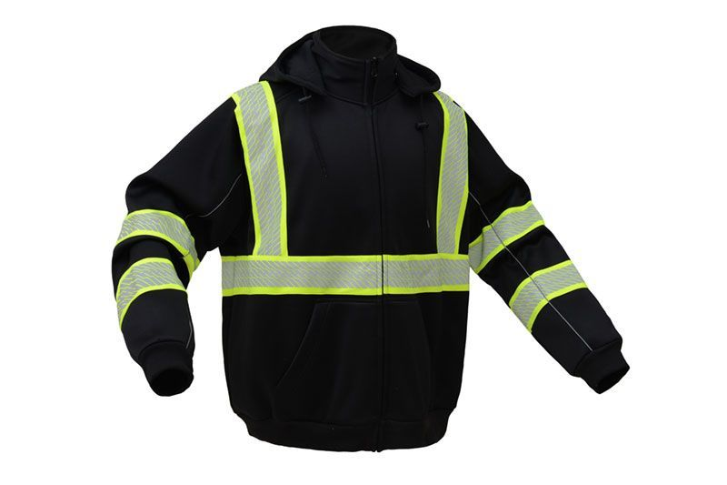 Gss safety 7511 onyx series class 3 hivis black bottom