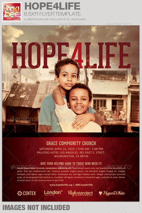 this hope4life charity event flyer template is sold exclusively on