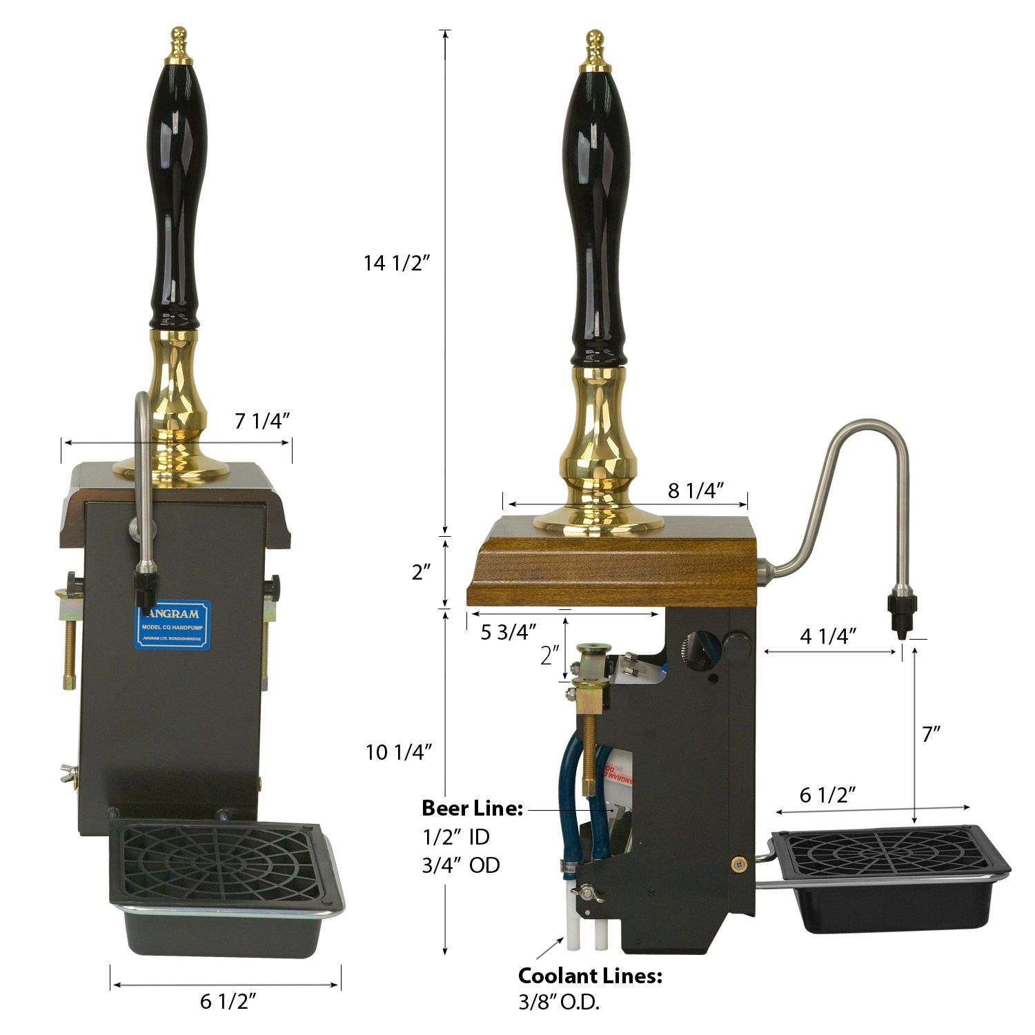 Cask Conditioned Dispensing Angram Clamp Beer Engine with water