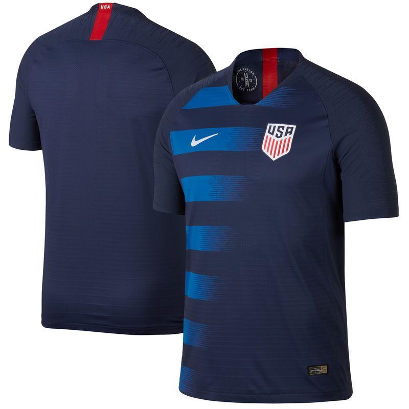 USMNT Nike 2018 Away Authentic Vapor Match Blank Jersey