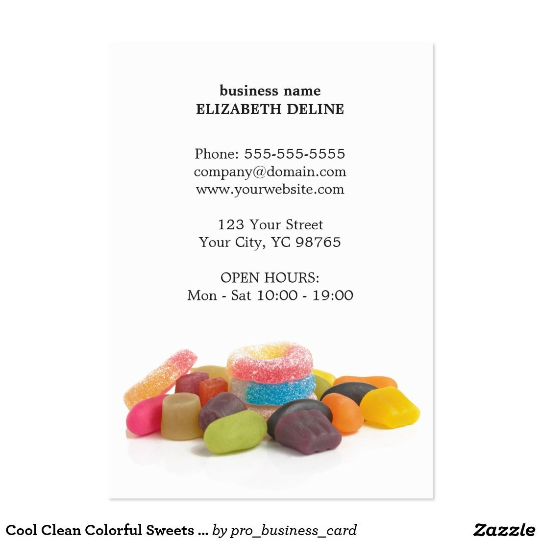 Cool Clean Colorful Sweets Sweet Shop Elegant business