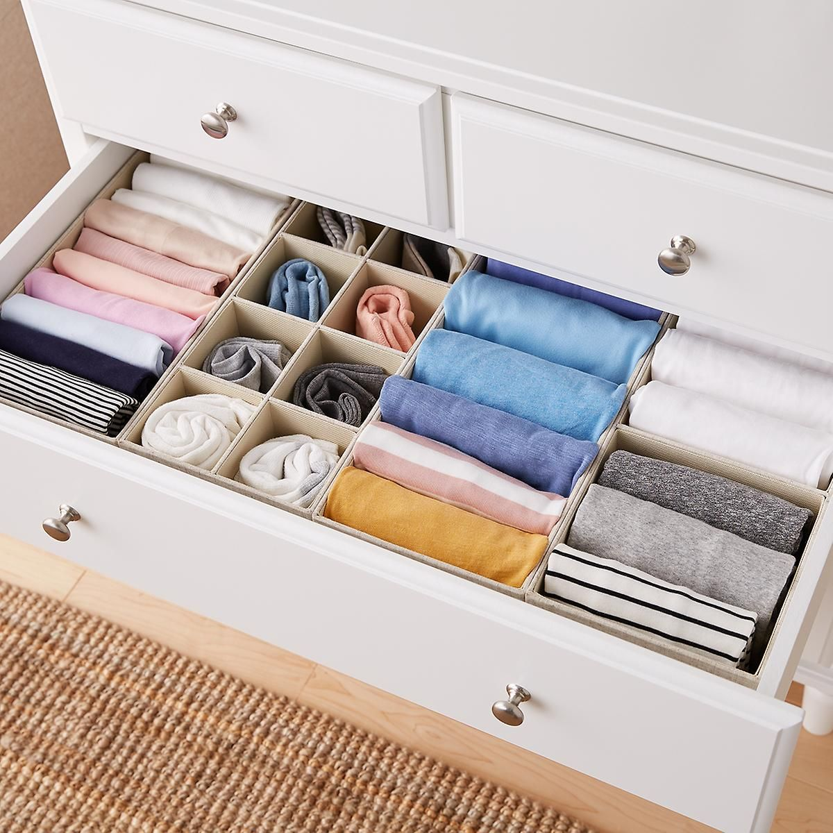 Linen Cambridge Drawer Organizers Dresser Drawer Organization Clothes Closet Organization Dresser Organization