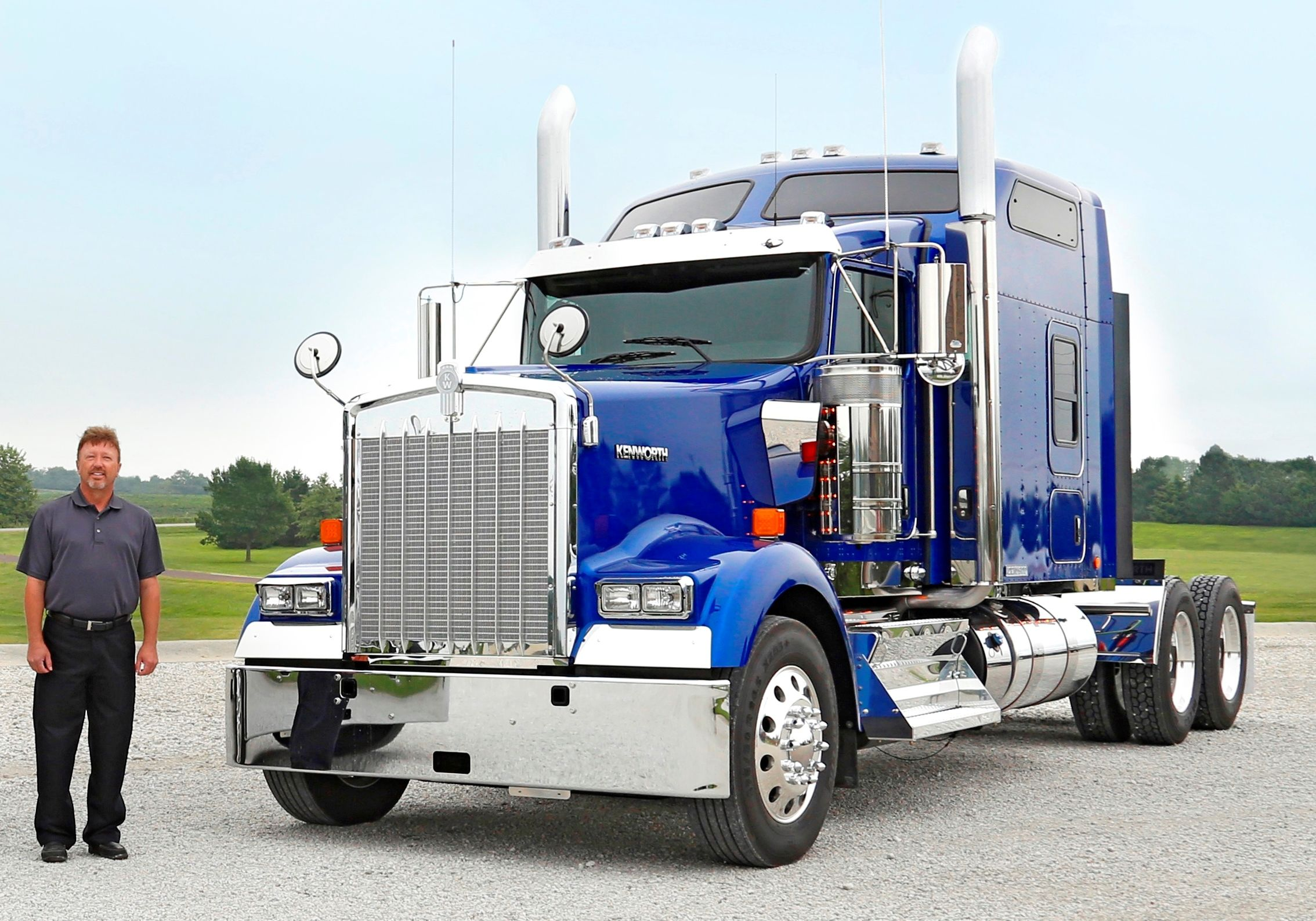 The first Kenworth Icon 900 limited edition tractor was recently delivered to long-time Kenworth customer Keim TS.