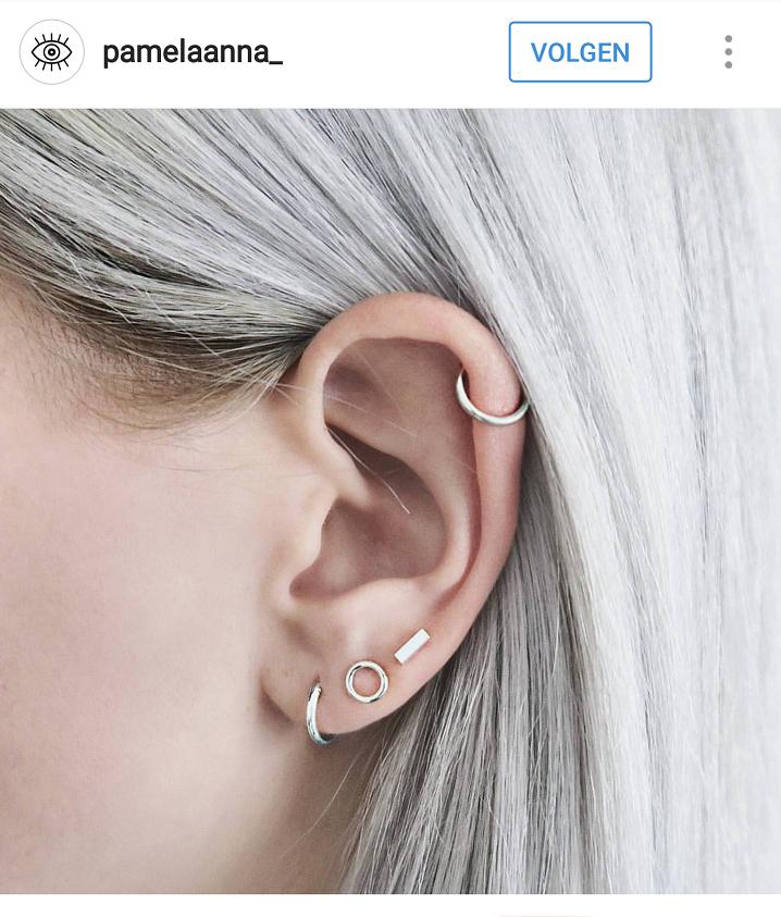 Magnifiek Afbeeldingsresultaat voor meerdere gaatjes in oren | Sieraden i @SE66
