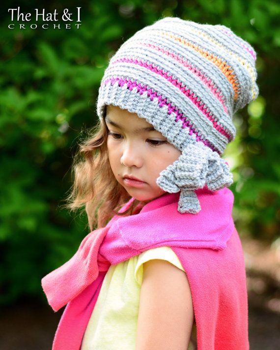 CROCHET PATTERN - Snow Bunny Beanie - crochet hat pattern, beanie ...