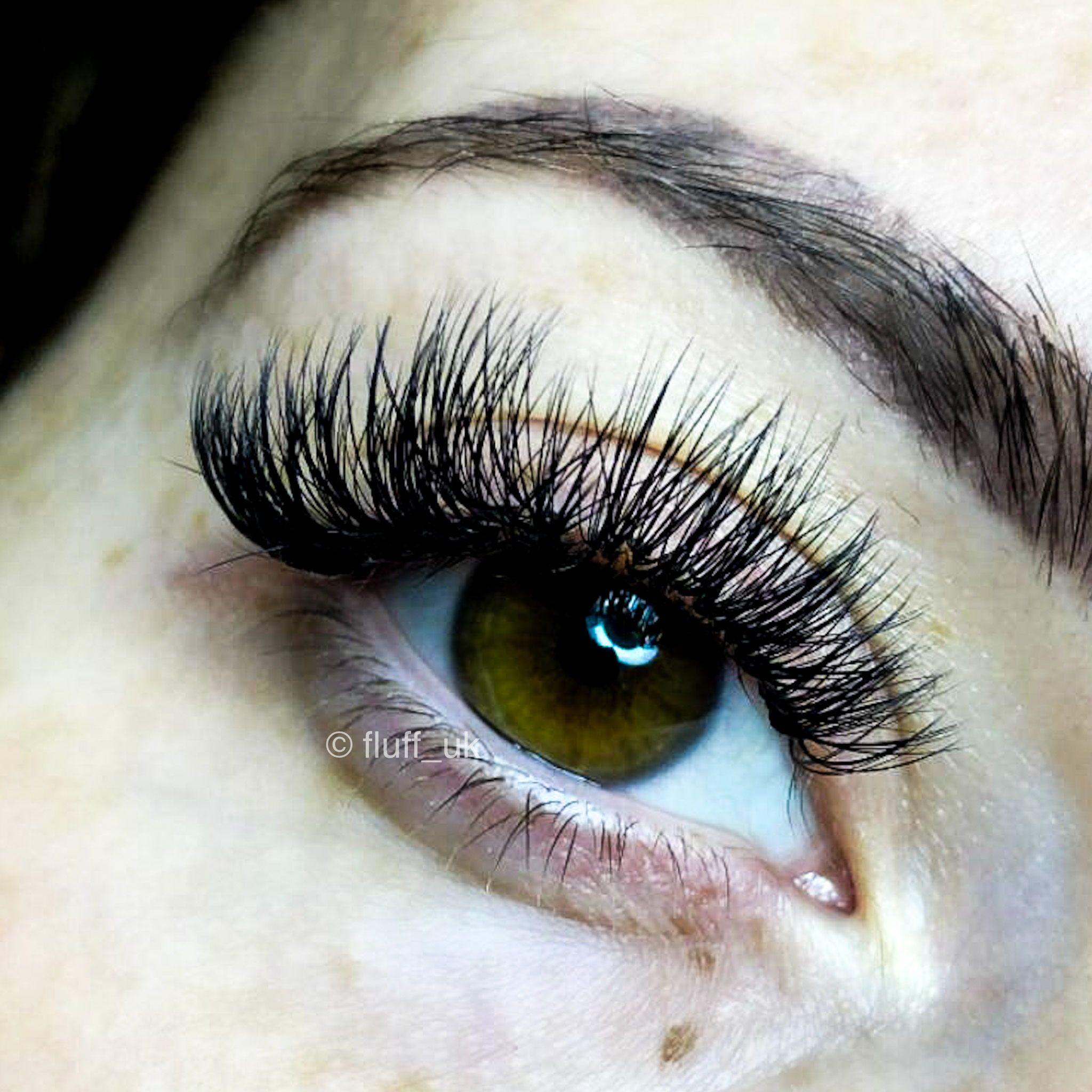 long wispy russian volume eyelash extensions in 2020