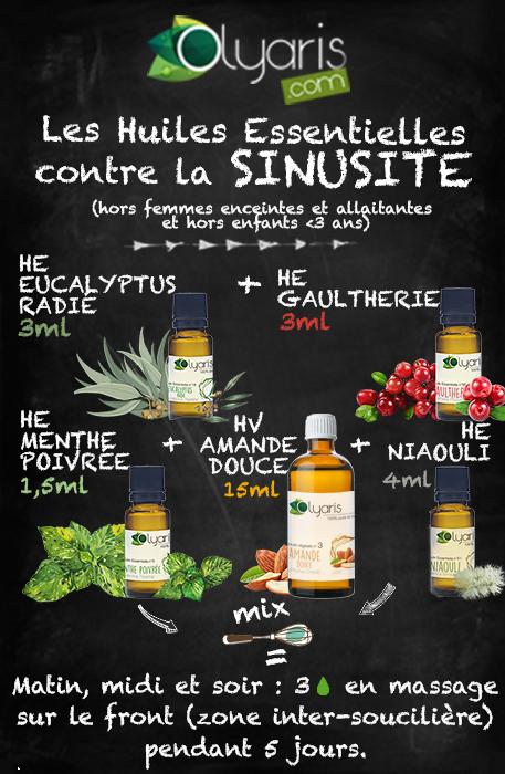 Synergie naturelle avec les huiles essentielles sinusite aiguë spéciale