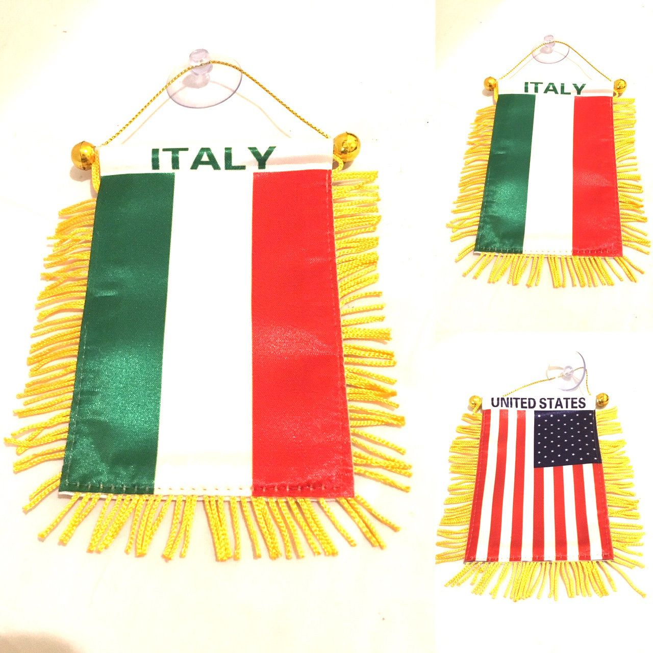 Italy American flag for Automobile cars Home Small 4x6