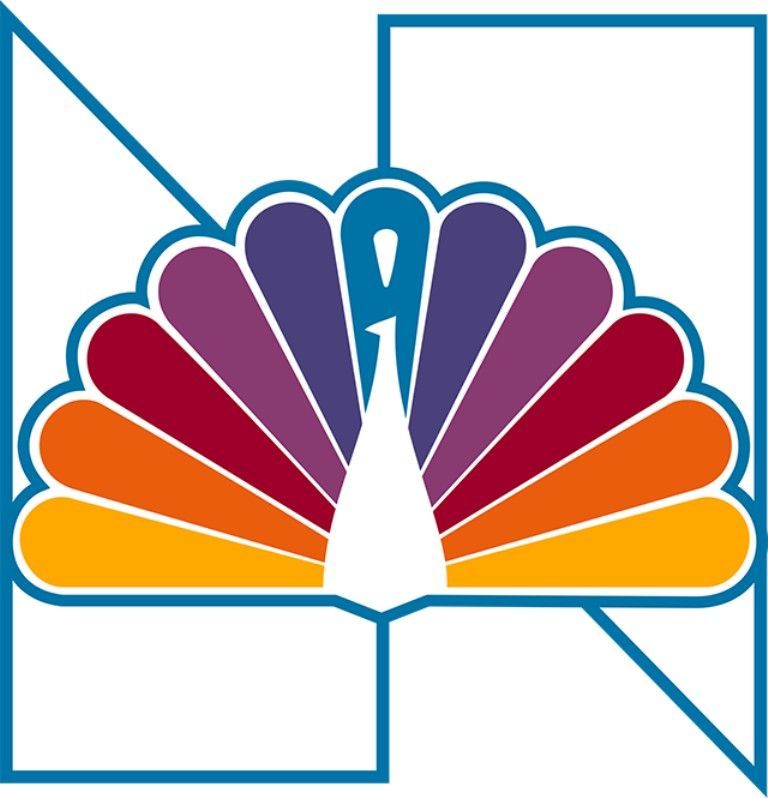 "19791986 NBCTV Network ""PeacockTrapezoids 'N'"" logo"