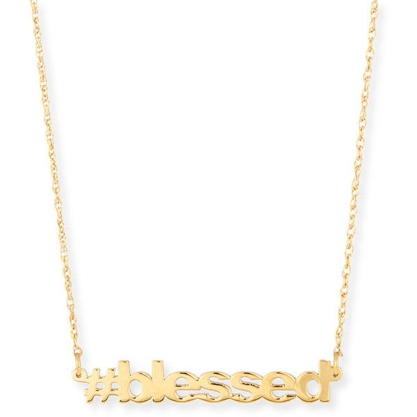 Jennifer Zeuner 18K Gold Vermeil blessed Necklace D4TWM9
