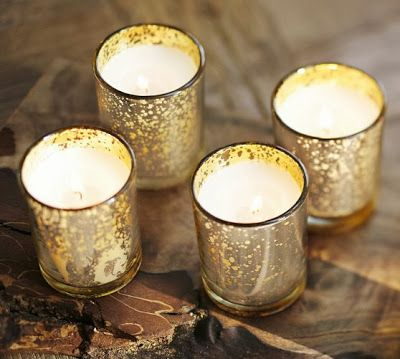 Diy mercury glass tutorial mercury glass glass and gold for Homemade votive candles