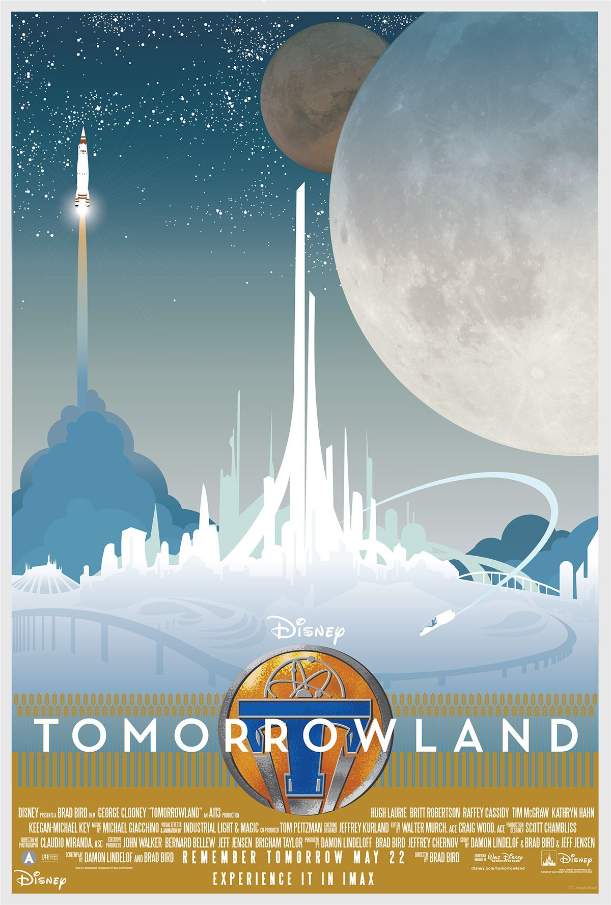 joseph marsh disney poster | Tomorrowland fan-art poster courtesy of Joseph Marsh. Check out more ...