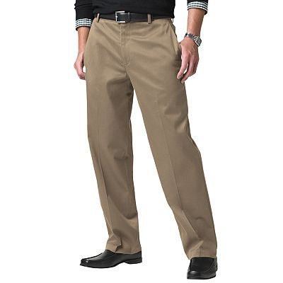 b484e6d06ce699 Dockers Signature Khaki Classic-Fit Flat-Front Pants. No Pleats. Neutral  Colors.
