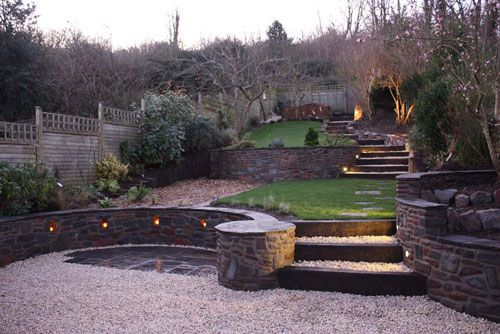 Beautiful Tiered Landscaping Love The Rock Walls