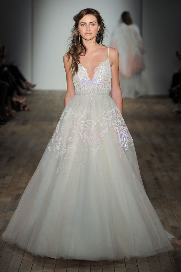 Holographic Iridescent Hayley Paige Wedding Dress