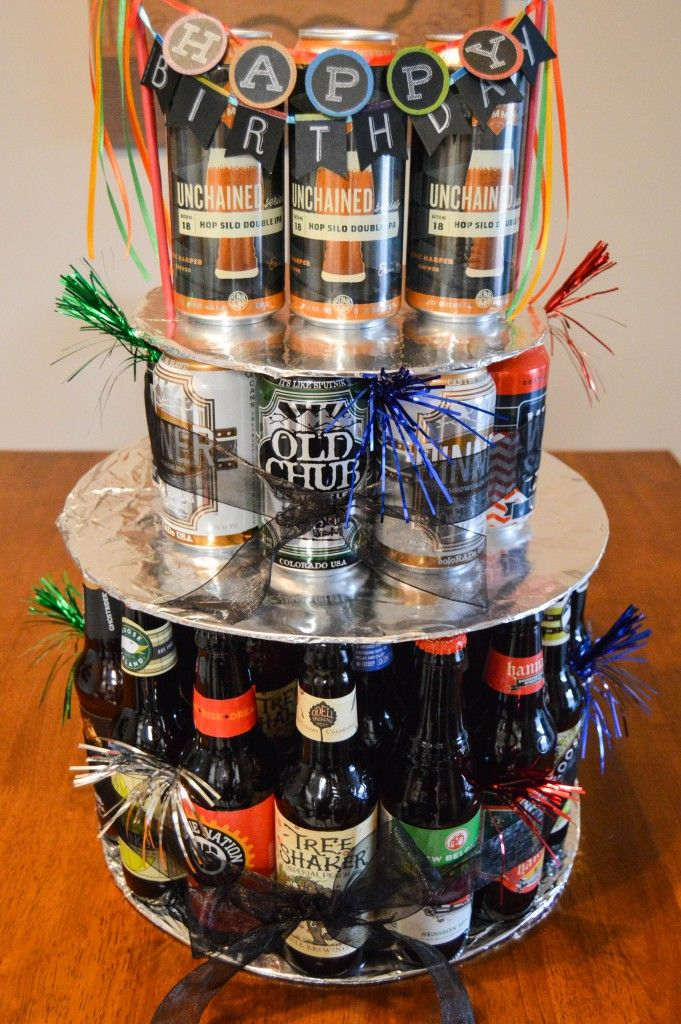 Birthday Cake Using Cans Of Drink Up