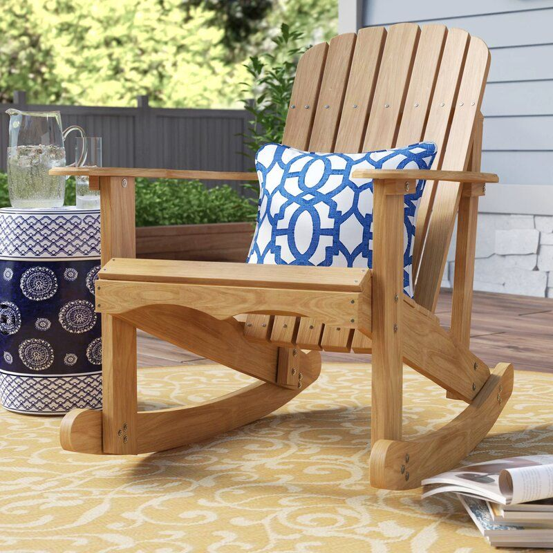 Chartier Solid Wood Rocking Adirondack Chair In 2020 Wood Adirondack Chairs Patio Rocking Chairs Adirondack Chair