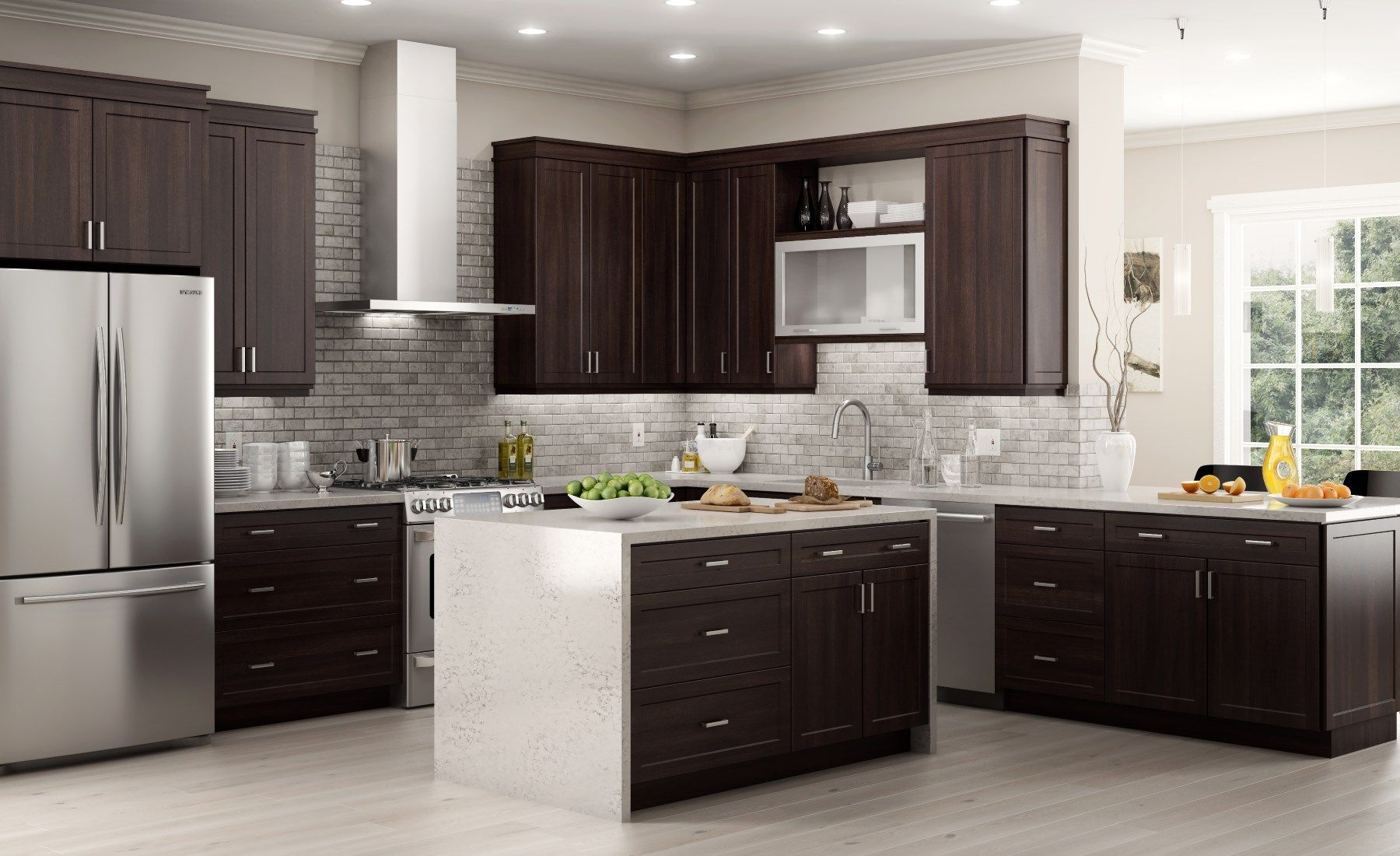 Gallery Hampton Bay Designer Series Designer Kitchen Cabinets Available At Home Depot Unfinished Kitchen Cabinets Home Depot Kitchen Kitchen Set Cabinet
