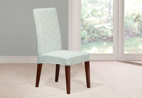 sure fit slipcovers stretch ironworks short dining chair covers rh pinterest com