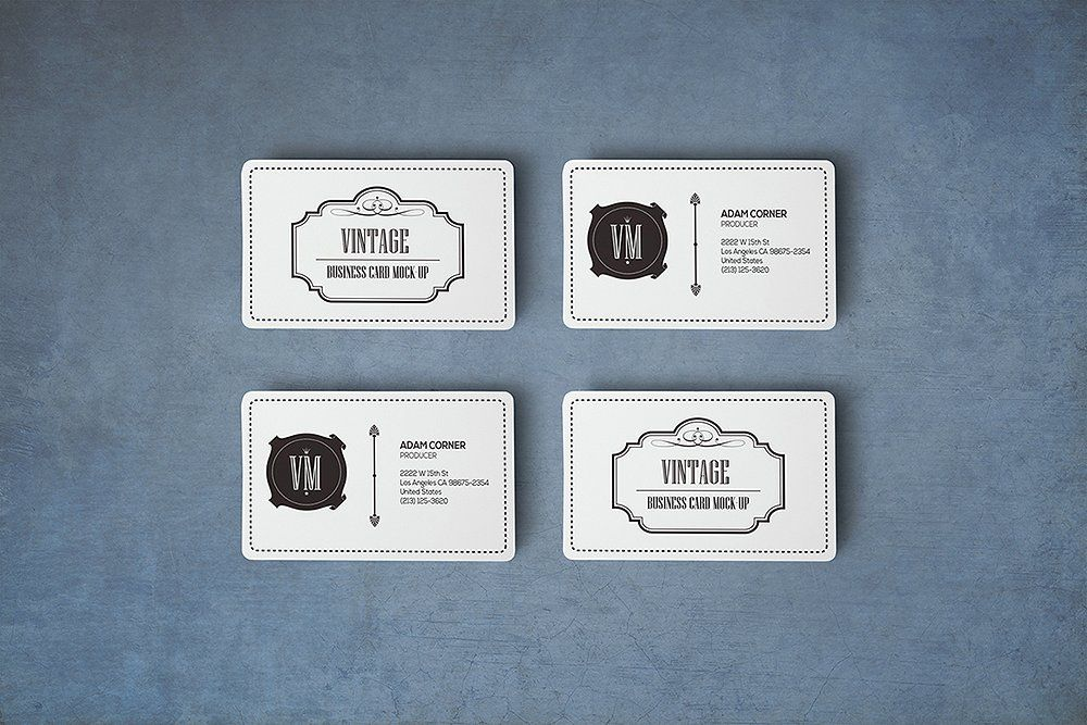 Rounded Corners Business Card mockup #amp#paste#save#click