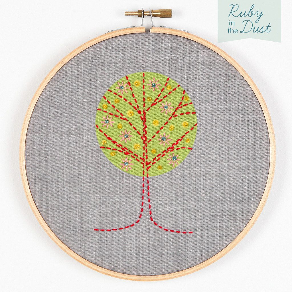 1 of 2 Tree Hoop Wall Art Embroidery Kit by rubyinthedustnz on Etsy ...
