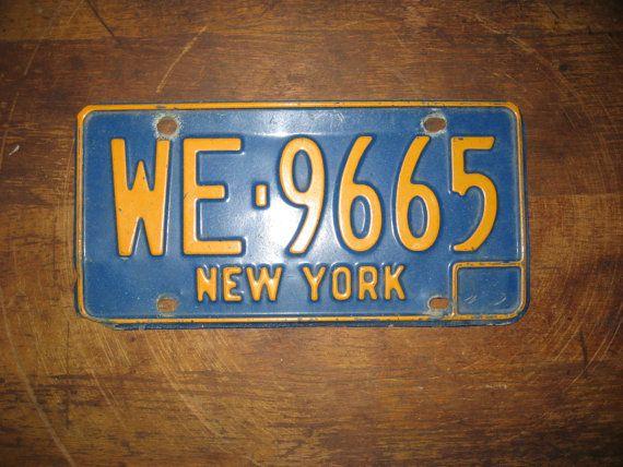 Vintage New York license plate