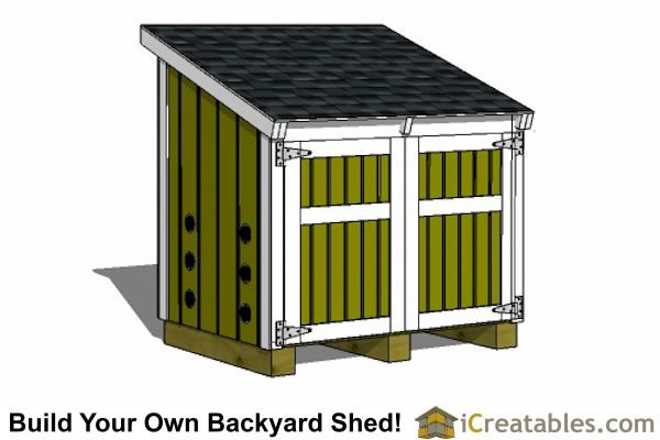 5 2 X 3 8 Lean To Generator Enclosure Plans Shed Design Generator Shed Building A Shed