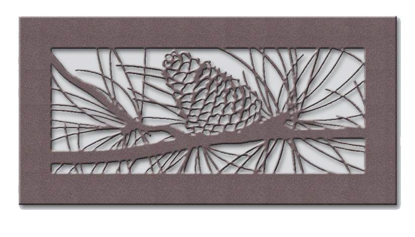 Pinecone Metal Vent Cover Decorative Vent Cover Vent Covers Heater Cover