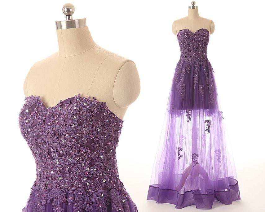 Illusion long sleeve lace applique a line wedding dress